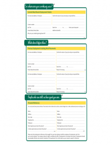 free employment application template morrisons fresh job application form l