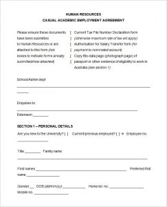 free employment application template word casual academic employment agreement