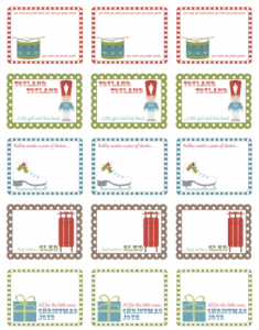 free envelope template labels holiday