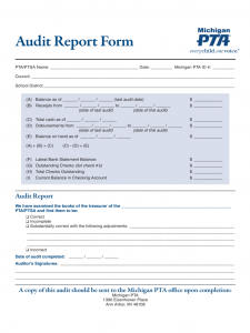 free envelope template audit report form michigan d