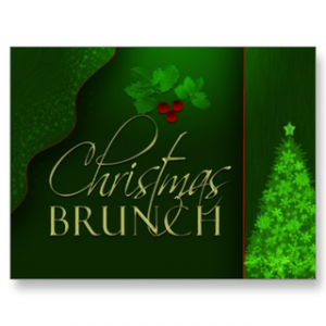 free envelope template christmas brunch