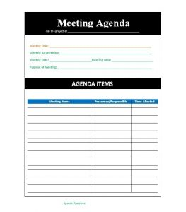 free estimate template pdf meeting agenda template x
