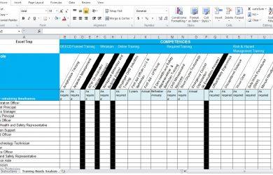 free estimate template pdf training needs analysis template