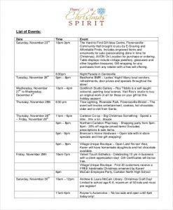 free event program templates christmas event program template