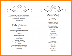 free event program templates free event program templates free wedding program templates jrzuqo