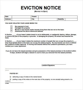 free eviction notice form notice of eviction letter template qrfroxo