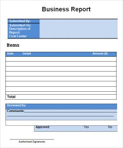 free expense report form pdf business report template