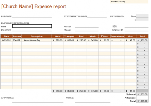 free expense report form pdf fcfexpenserptsample