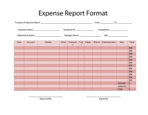 free expense report form pdf misc editable microsoft expense expenese report free printables