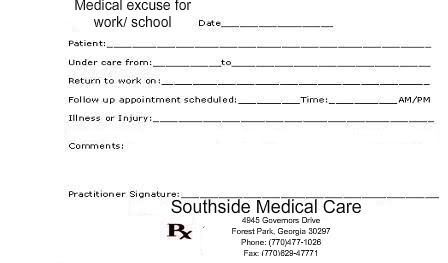 free fake doctors note