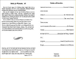 free fake doctors note template download free funeral program templates funeralprogramtemplate inside