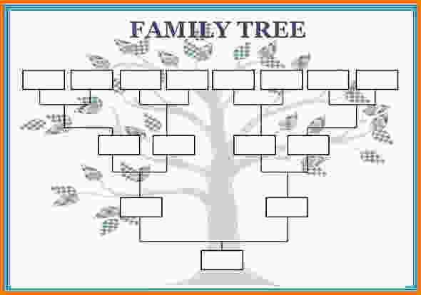 free family tree template word