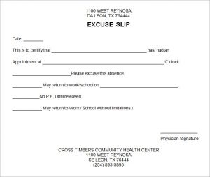 free fill in the blank doctors note free doctors excuse template