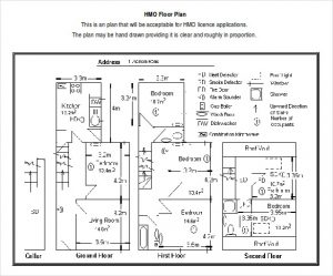 free floor plan template hmo floor plan free download doc format template