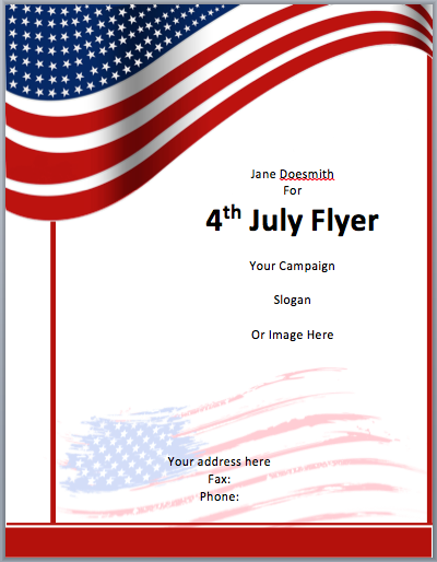 Memorial Day Car Sales >> Free Flyer Template Word | Template Business
