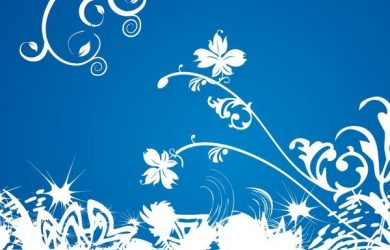 free funeral templates white floral on blue background vector graphic