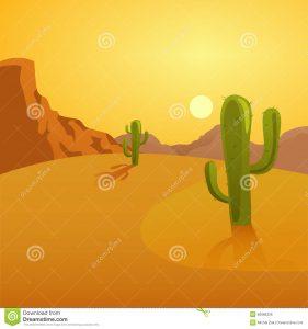free halloween background ilustração dos desenhos animados de um fundo do deserto com cactos