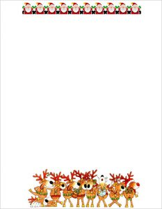 free holiday stationery templates download printable christmas letter template