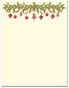 free holiday stationery templates grandmas ornaments
