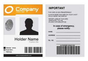 free id card template company id template psd