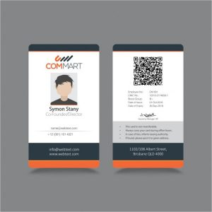 free id card template free id badge template