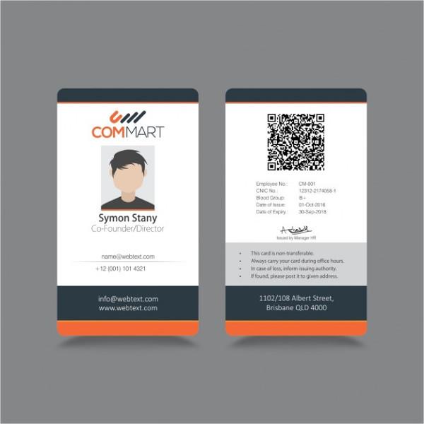 free id card template