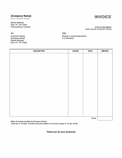 Free Invoice Template Download Template Business - Create an invoice free for service business
