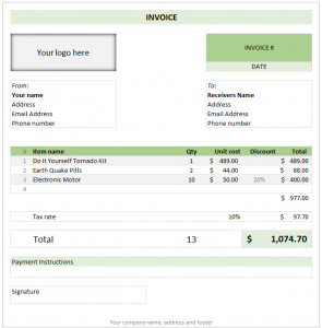 free invoice template excel free invoice template excel download