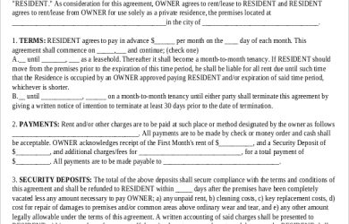 free lease agreement template word basic rental agreement template free download
