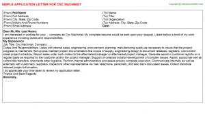 free letter templates cnc machinist application letter