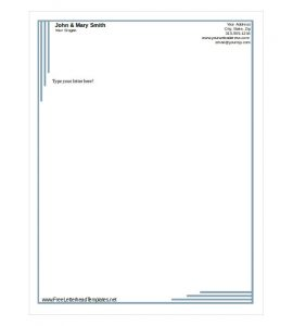 free letterhead templates business letterhead template free download