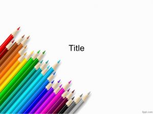 free linkedin background colored pencils powerpoint background for school lecturesppt presentation