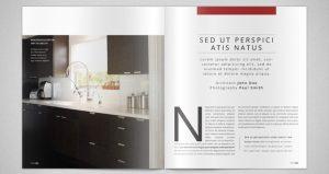 free magazine template interior design modern architecture catalogue template