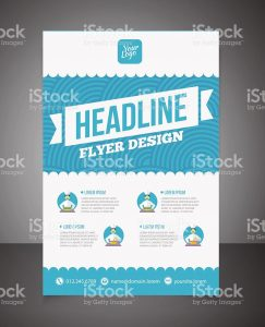 free magazine template business brochure or offer flyer design template vector id