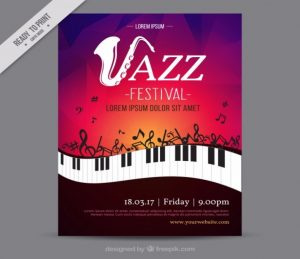 free magazine template jazz festival creative flyer template