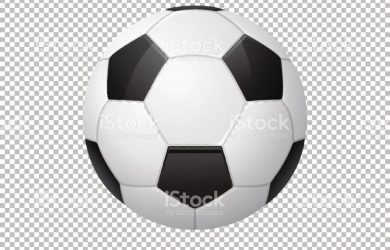 free magazine template vector realistic flying soccer ball closeup isolated on transparent vector id