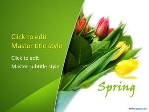 free medical powerpoint templates flower tulips ppt template