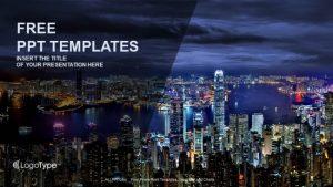 free medical powerpoint templates hong kong at night powerpoint templates