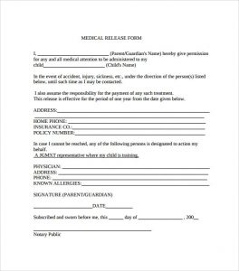 free medical release form downloadable medical release form