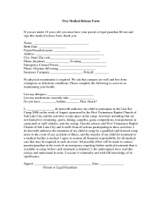 free medical release form free printable medical release forms
