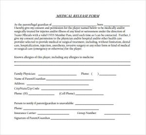 free medical release form simple medical release form