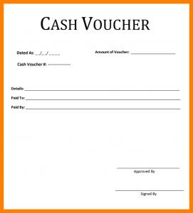 free memo template cash voucher format cash voucher template