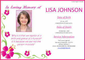 free memorial service program template funeral invitation template funeral program template