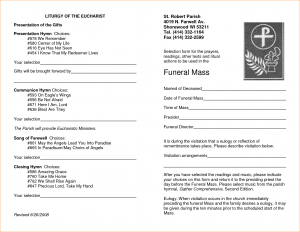 free memorial service program template funeral mass program