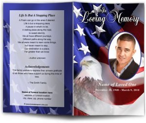 free memorial service program template webfront freedom