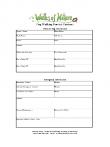 free menu templates for word dog walking service contract d