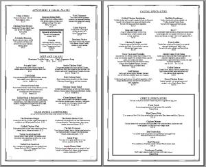 free menu templates menu2p1