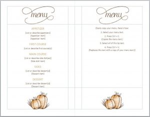 free menu templates thanksgiving menu template 1024x794