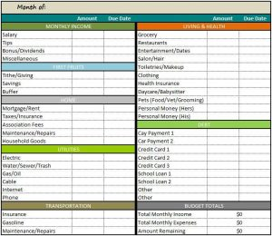 free monthly budget template bfdbabdcaca monthly budget template budget templates