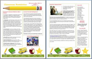 free newsletter template free download classroom newsletter template in word
